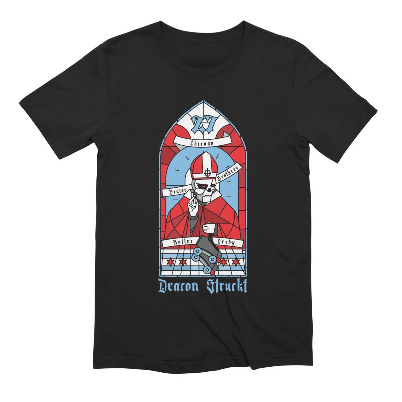 Skater Series: Deacon Struckt Men's Extra Soft T-Shirt by Chicago Bruise Brothers Roller Derby