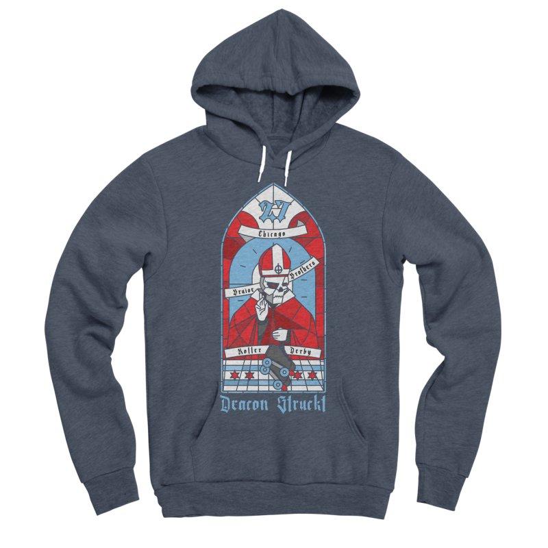 Skater Series: Deacon Struckt Men's Sponge Fleece Pullover Hoody by Chicago Bruise Brothers Roller Derby