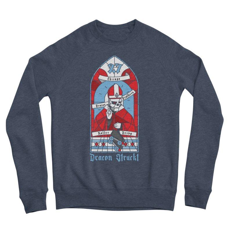 Skater Series: Deacon Struckt Men's Sponge Fleece Sweatshirt by Chicago Bruise Brothers Roller Derby