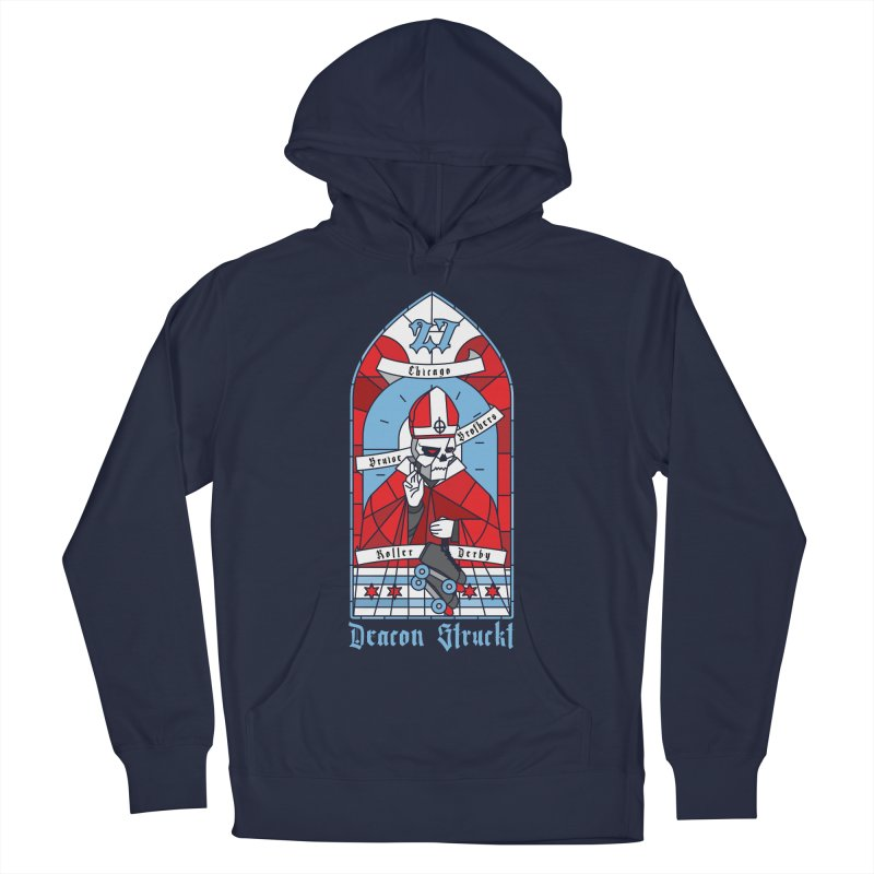 Skater Series: Deacon Struckt Women's French Terry Pullover Hoody by Chicago Bruise Brothers Roller Derby