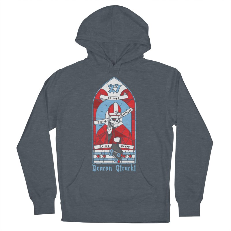 Skater Series: Deacon Struckt Men's French Terry Pullover Hoody by Chicago Bruise Brothers Roller Derby