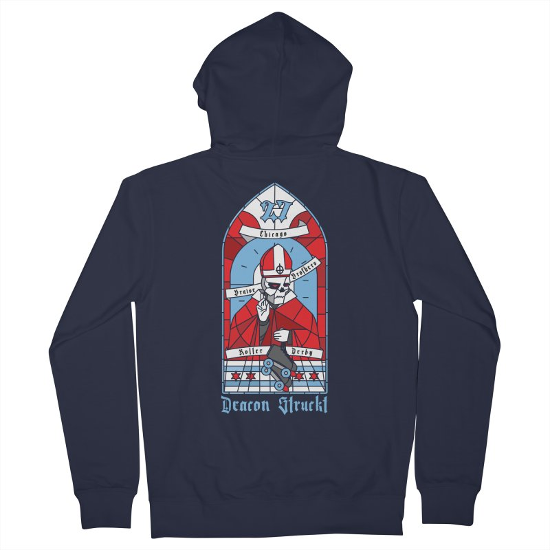 Skater Series: Deacon Struckt Women's French Terry Zip-Up Hoody by Chicago Bruise Brothers Roller Derby