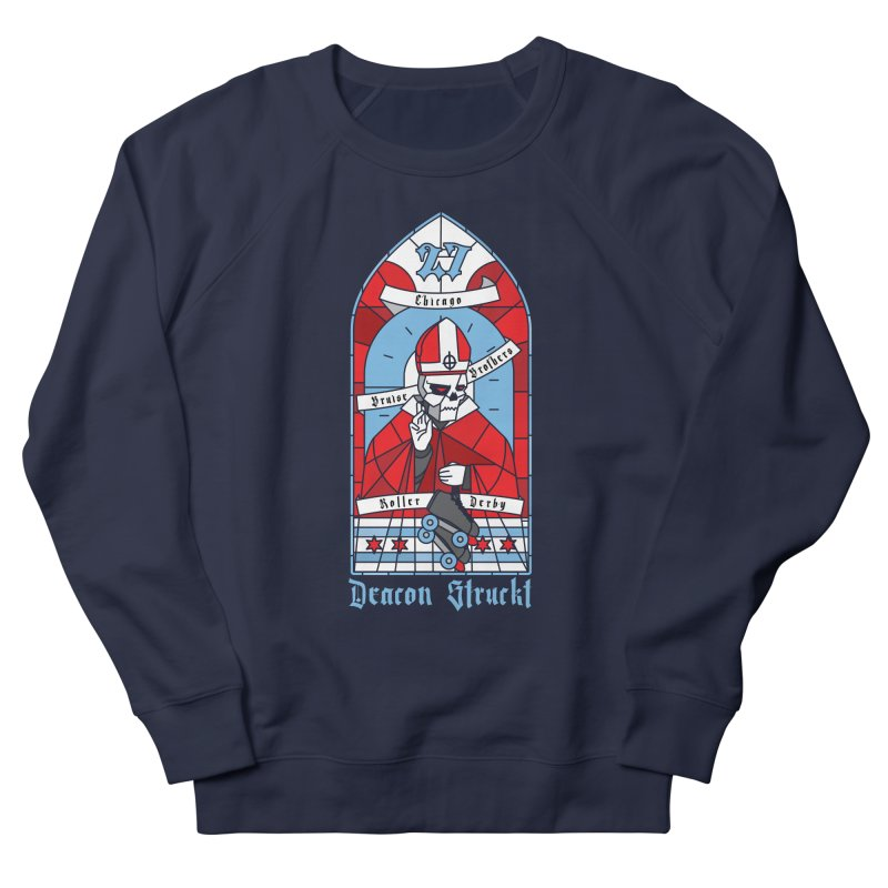 Skater Series: Deacon Struckt Men's French Terry Sweatshirt by Chicago Bruise Brothers Roller Derby