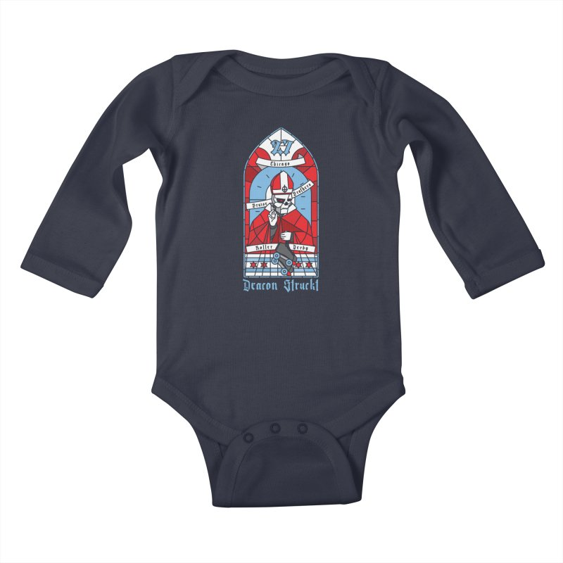 Skater Series: Deacon Struckt Kids Baby Longsleeve Bodysuit by Chicago Bruise Brothers Roller Derby