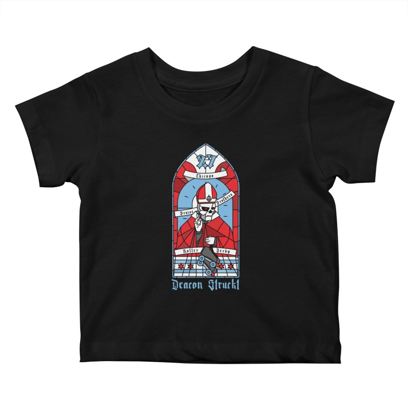 Skater Series: Deacon Struckt Kids Baby T-Shirt by Chicago Bruise Brothers Roller Derby