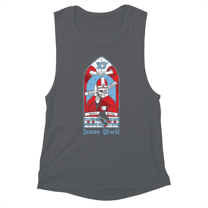Skater Series: Deacon Struckt Women's Muscle Tank by Chicago Bruise Brothers Roller Derby
