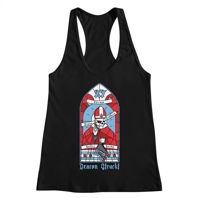 Skater Series: Deacon Struckt Women's Racerback Tank by Chicago Bruise Brothers Roller Derby