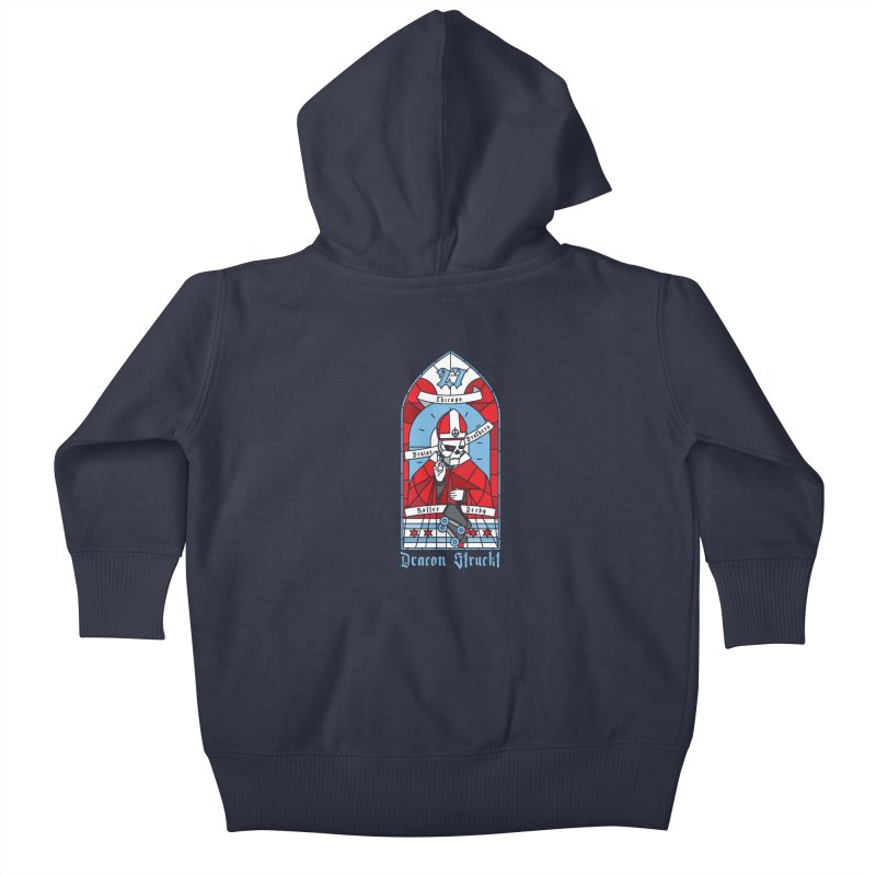 Skater Series: Deacon Struckt Kids Baby Zip-Up Hoody by Chicago Bruise Brothers Roller Derby