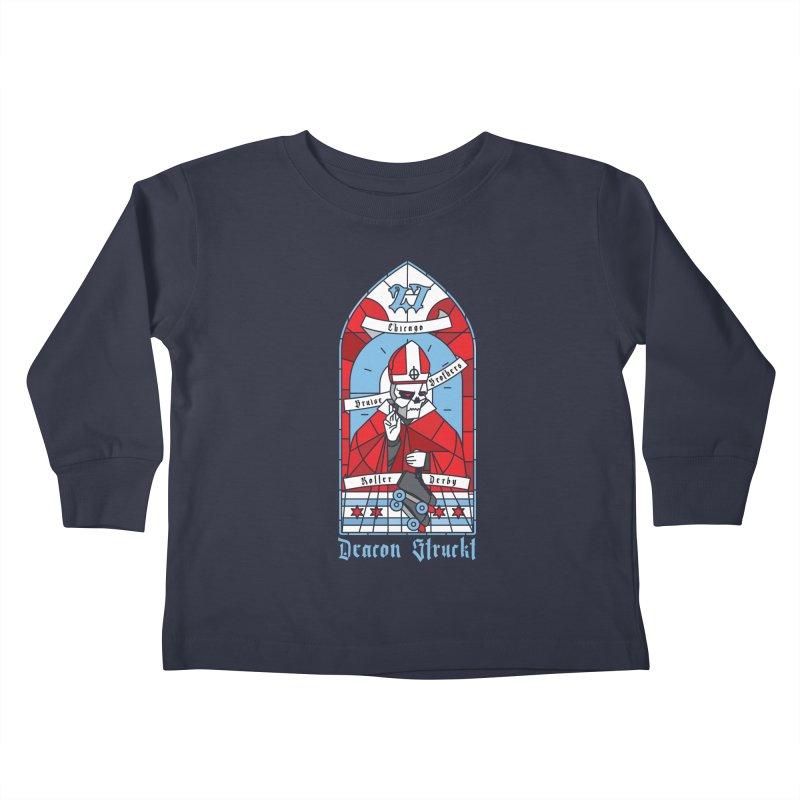 Skater Series: Deacon Struckt Kids Toddler Longsleeve T-Shirt by Chicago Bruise Brothers Roller Derby