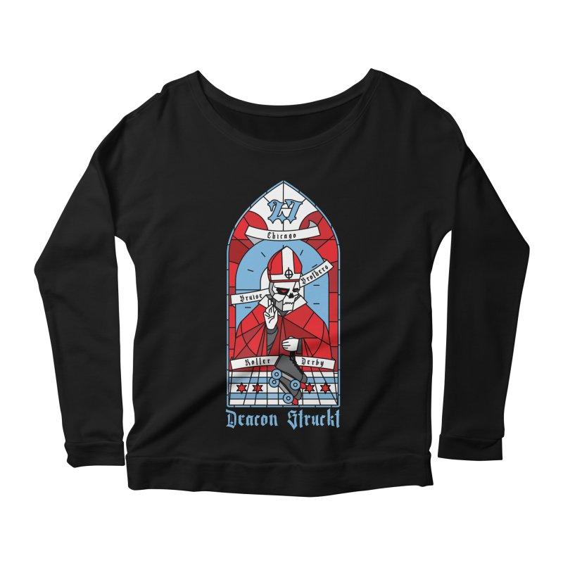 Skater Series: Deacon Struckt Women's Scoop Neck Longsleeve T-Shirt by Chicago Bruise Brothers Roller Derby