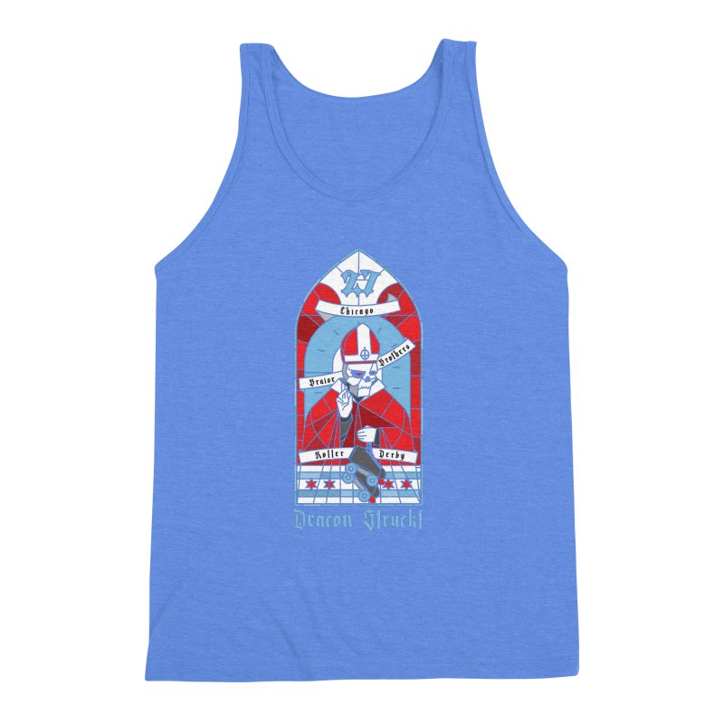 Skater Series: Deacon Struckt Men's Triblend Tank by Chicago Bruise Brothers Roller Derby