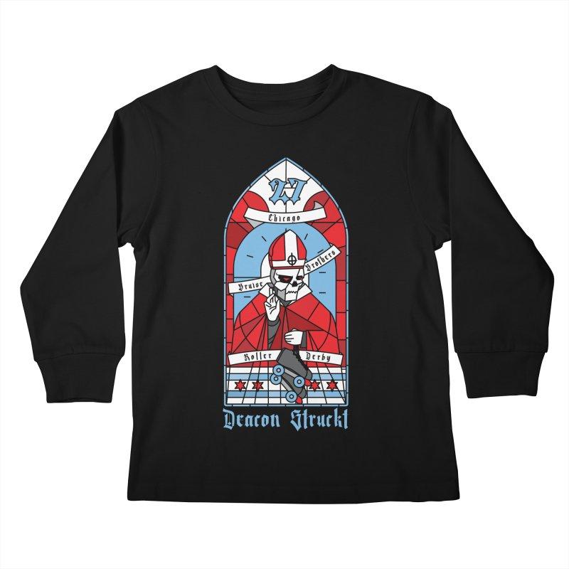 Skater Series: Deacon Struckt Kids Longsleeve T-Shirt by Chicago Bruise Brothers Roller Derby