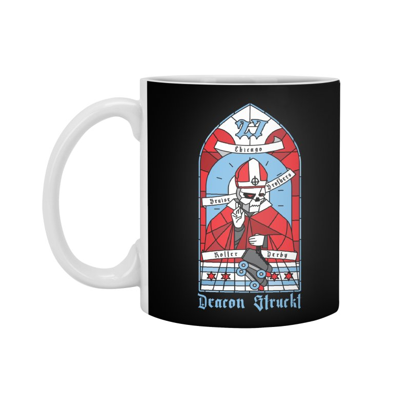 Skater Series: Deacon Struckt Accessories Standard Mug by Chicago Bruise Brothers Roller Derby