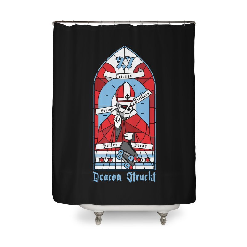 Skater Series: Deacon Struckt Home Shower Curtain by Chicago Bruise Brothers Roller Derby