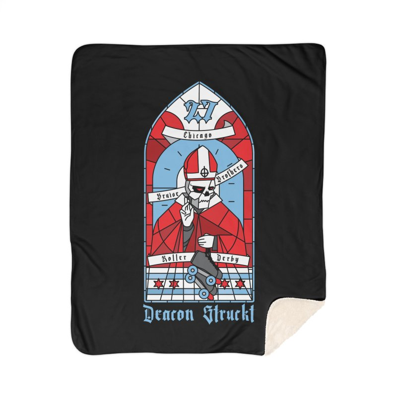 Skater Series: Deacon Struckt Home Sherpa Blanket Blanket by Chicago Bruise Brothers Roller Derby