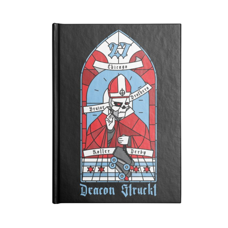 Skater Series: Deacon Struckt Accessories Lined Journal Notebook by Chicago Bruise Brothers Roller Derby