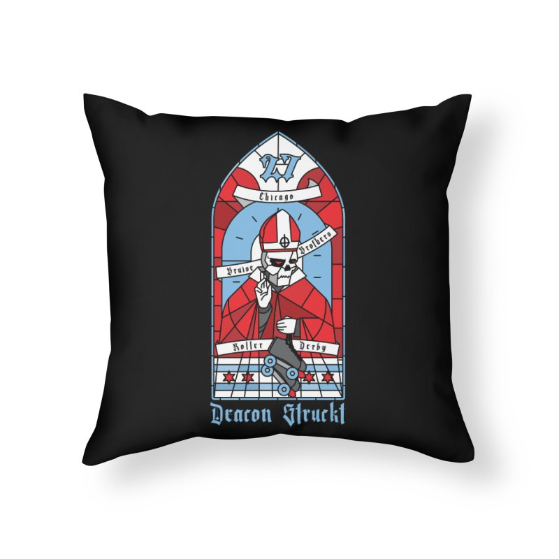Skater Series: Deacon Struckt Home Throw Pillow by Chicago Bruise Brothers Roller Derby
