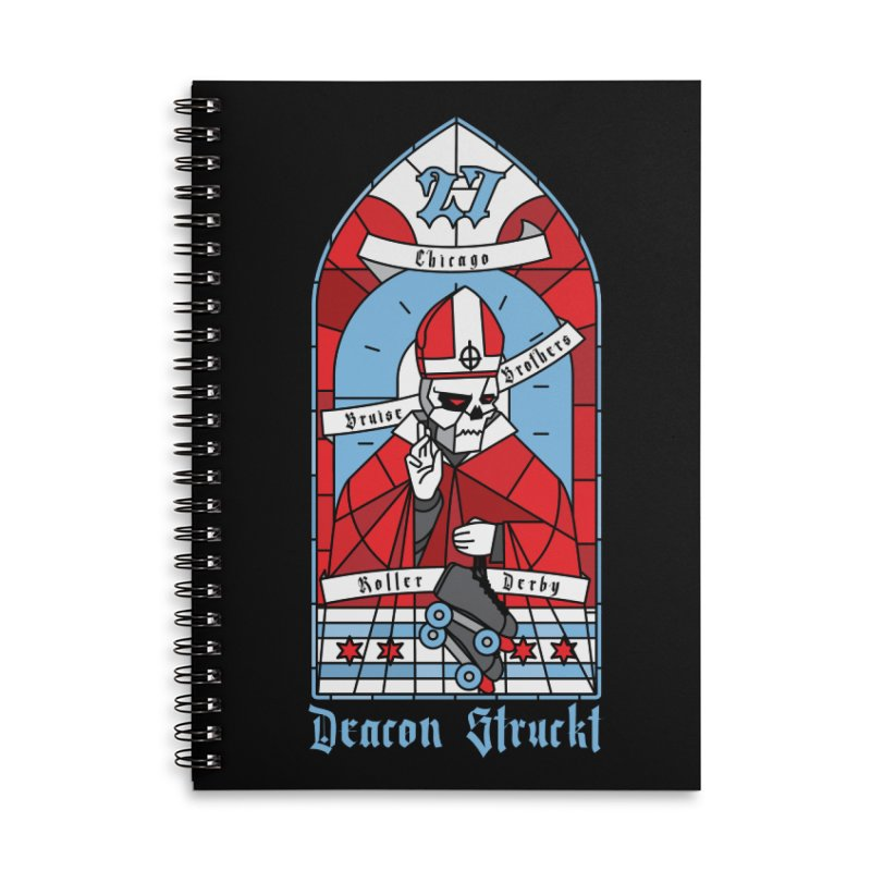 Skater Series: Deacon Struckt Accessories Lined Spiral Notebook by Chicago Bruise Brothers Roller Derby