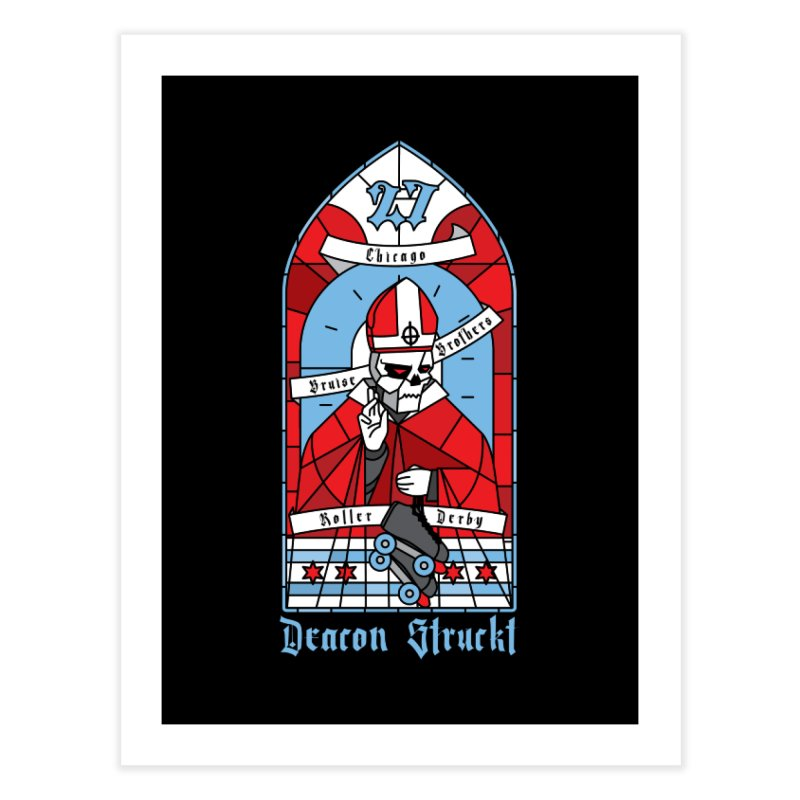 Skater Series: Deacon Struckt Home Fine Art Print by Chicago Bruise Brothers Roller Derby