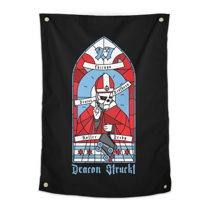Skater Series: Deacon Struckt Home Tapestry by Chicago Bruise Brothers Roller Derby