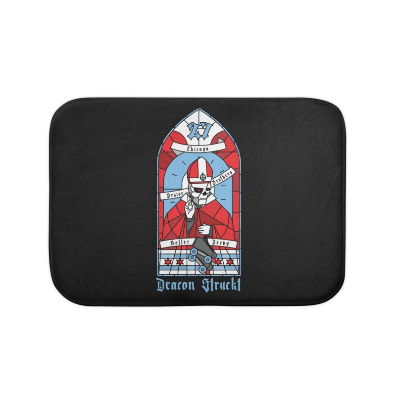 Skater Series: Deacon Struckt Home Bath Mat by Chicago Bruise Brothers Roller Derby
