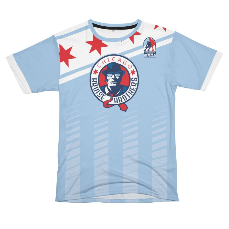 Bruise Brothers Home Jersey Replica Men's Cut & Sew by Chicago Bruise Brothers Roller Derby