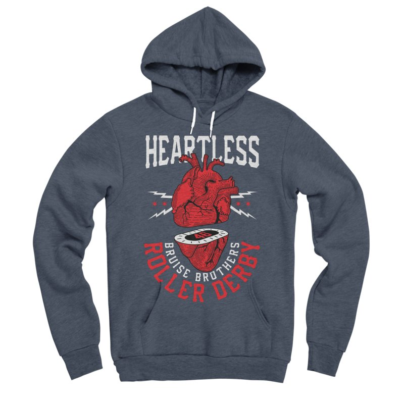 Skater Series: Heartless Men's Sponge Fleece Pullover Hoody by Chicago Bruise Brothers Roller Derby