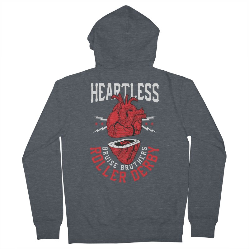 Skater Series: Heartless Women's French Terry Zip-Up Hoody by Chicago Bruise Brothers Roller Derby
