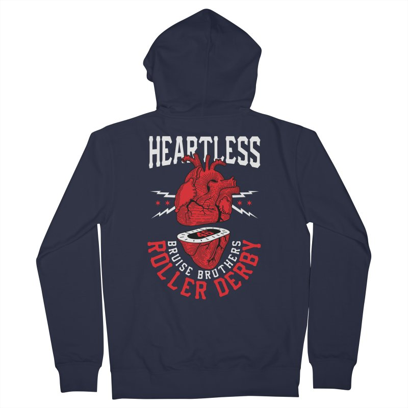 Skater Series: Heartless Women's Zip-Up Hoody by Chicago Bruise Brothers Roller Derby