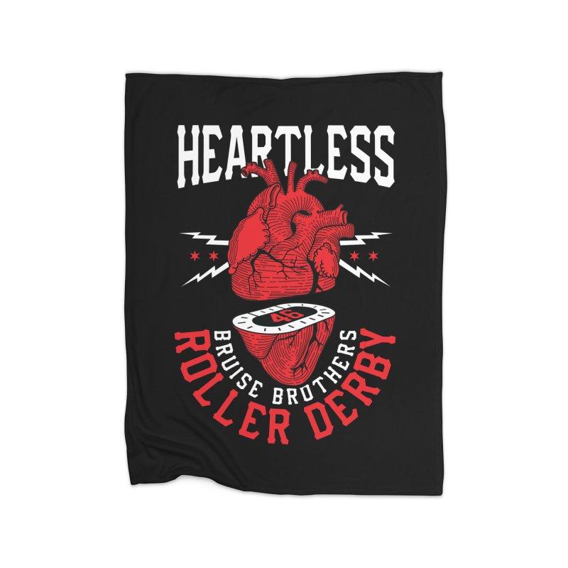 Skater Series: Heartless Home Fleece Blanket Blanket by Chicago Bruise Brothers Roller Derby