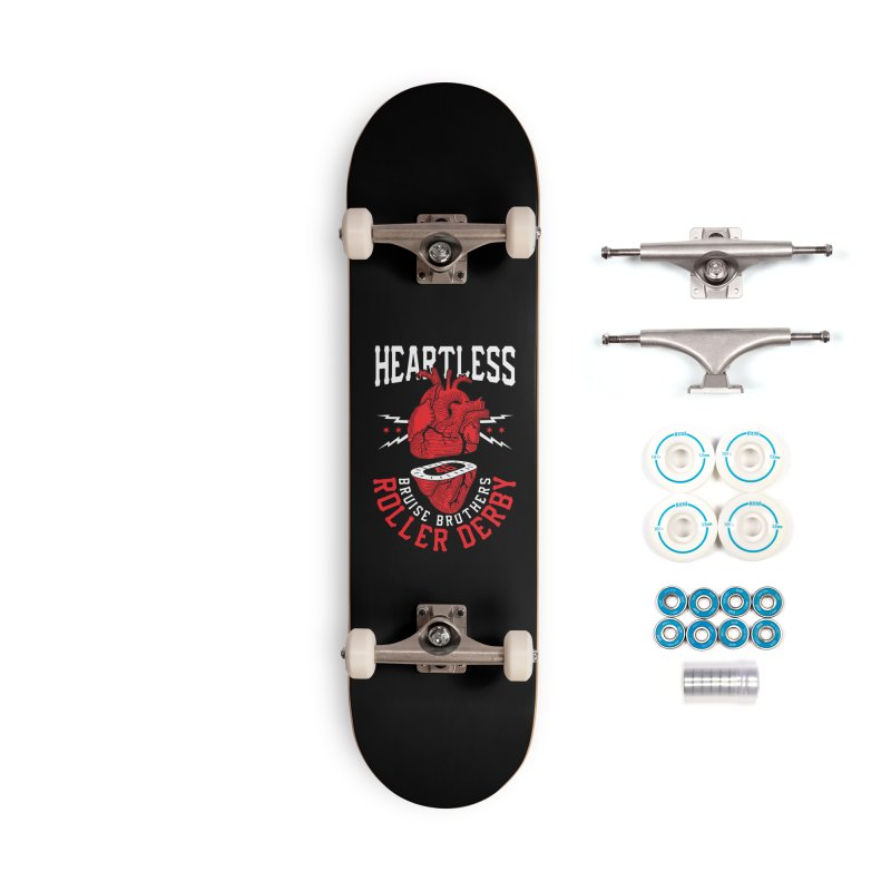 Skater Series: Heartless Accessories Skateboard by Chicago Bruise Brothers Roller Derby