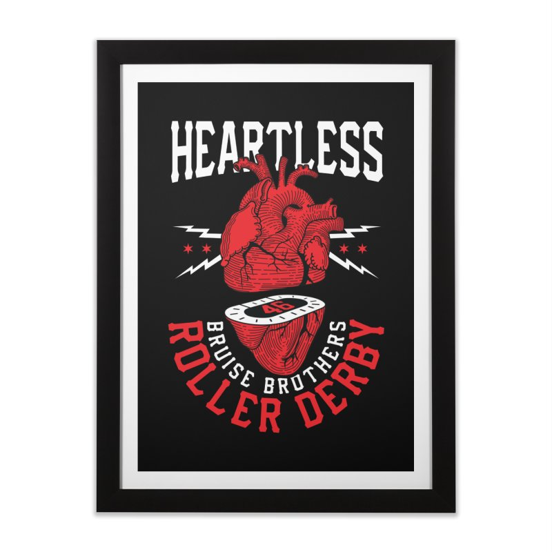 Skater Series: Heartless Home Framed Fine Art Print by Chicago Bruise Brothers Roller Derby