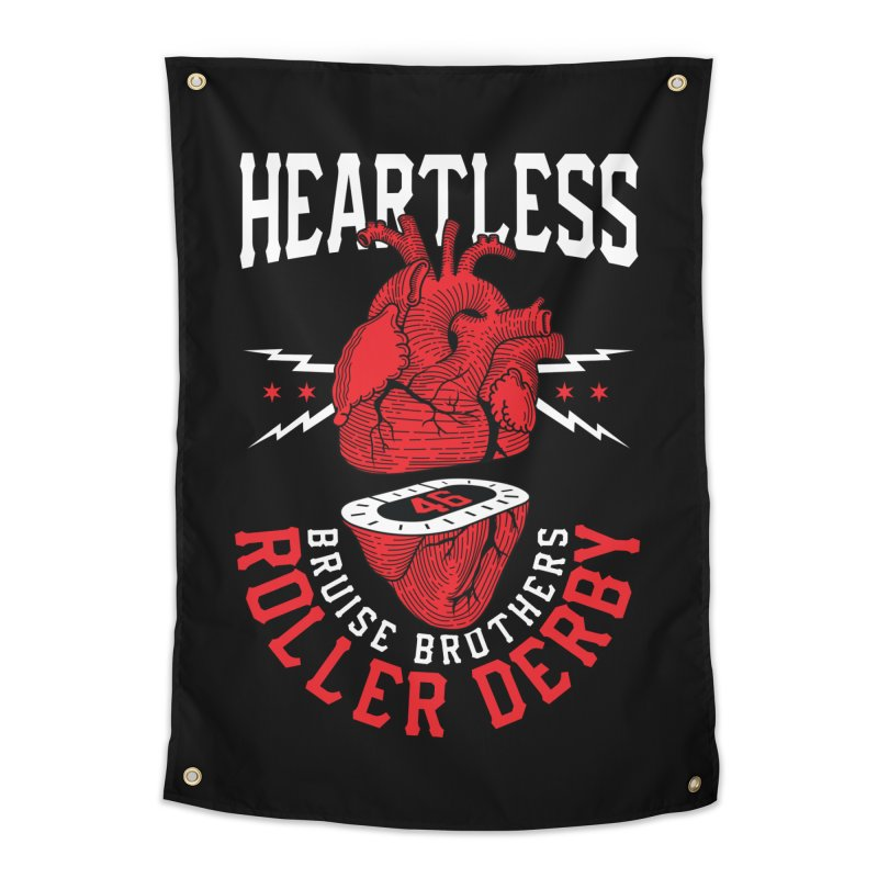Skater Series: Heartless Home Tapestry by Chicago Bruise Brothers Roller Derby