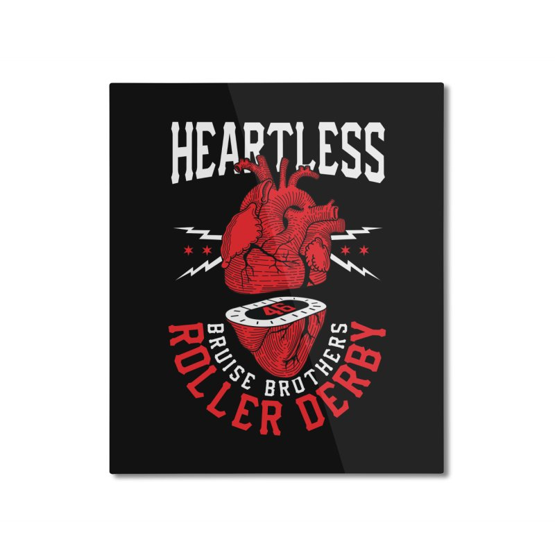 Skater Series: Heartless Home Mounted Aluminum Print by Chicago Bruise Brothers Roller Derby