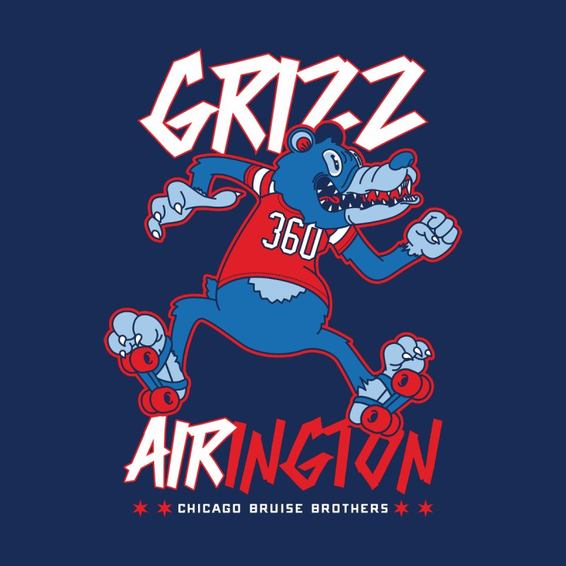 Skater Series: Grizz AIRington Men's Longsleeve T-Shirt by Chicago Bruise Brothers Roller Derby