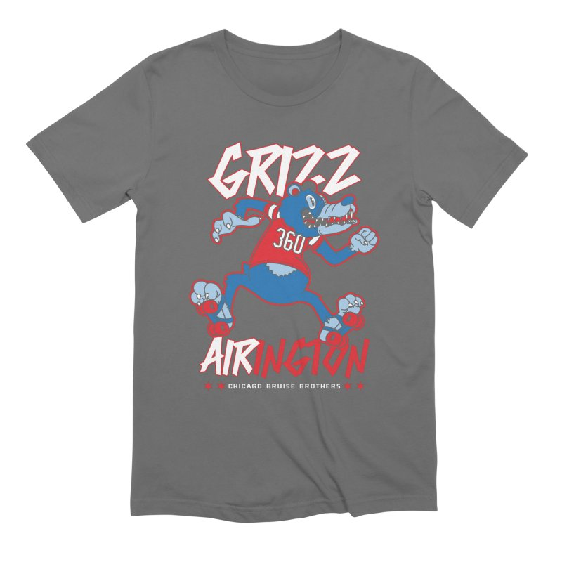 Skater Series: Grizz AIRington Men's T-Shirt by Chicago Bruise Brothers Roller Derby