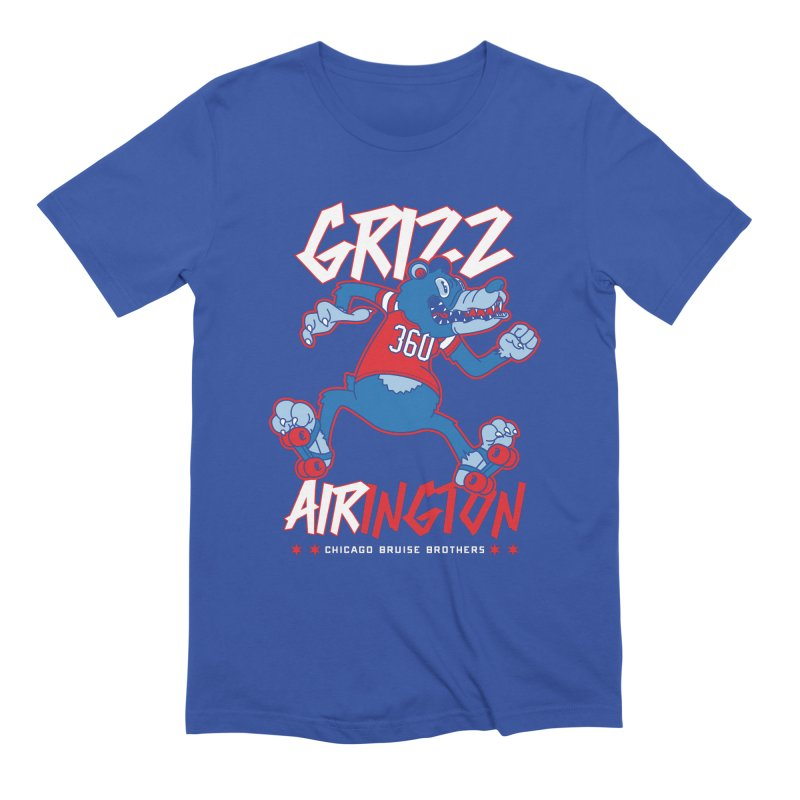 Skater Series: Grizz AIRington Men's Extra Soft T-Shirt by Chicago Bruise Brothers Roller Derby
