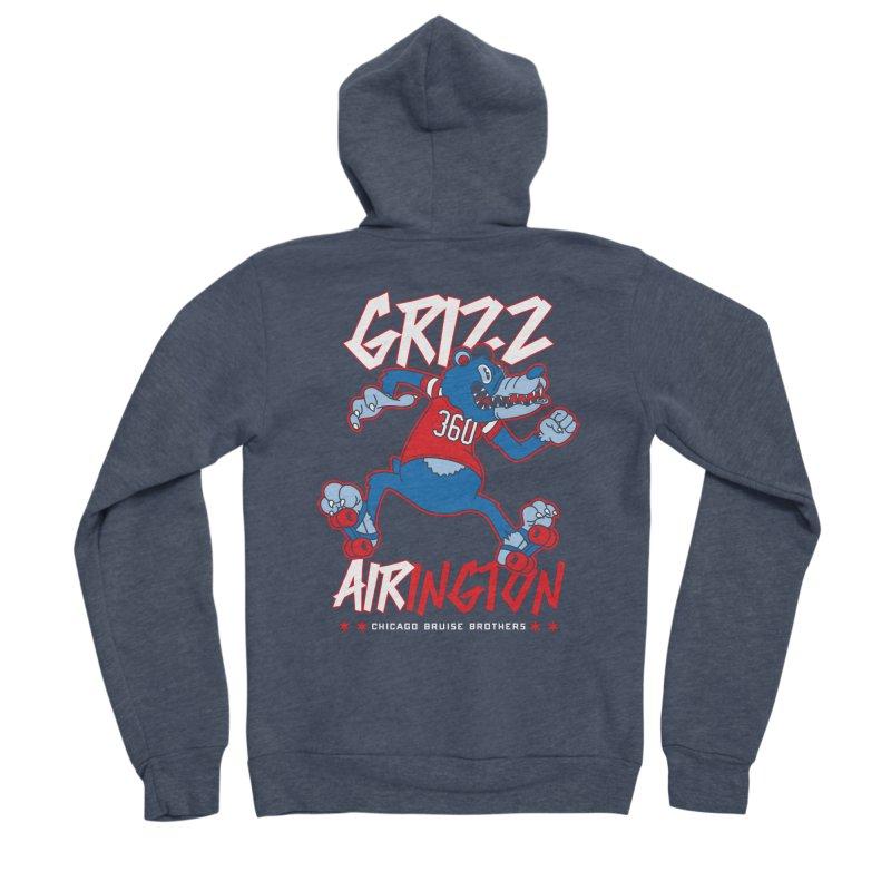 Skater Series: Grizz AIRington Women's Sponge Fleece Zip-Up Hoody by Chicago Bruise Brothers Roller Derby