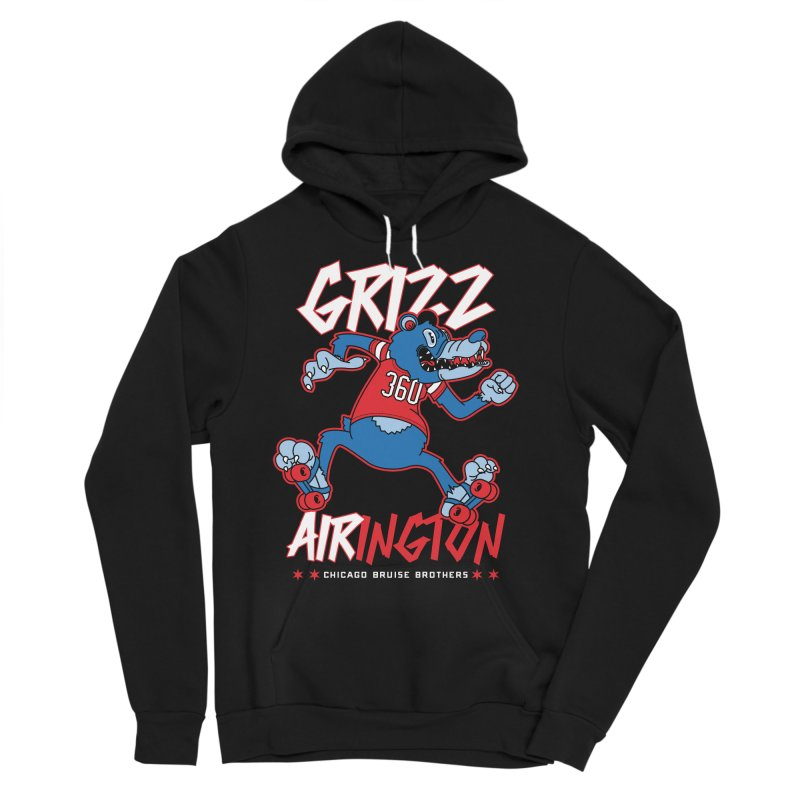 Skater Series: Grizz AIRington Men's Sponge Fleece Pullover Hoody by Chicago Bruise Brothers Roller Derby