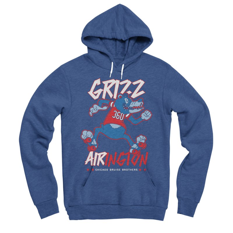 Skater Series: Grizz AIRington Women's Sponge Fleece Pullover Hoody by Chicago Bruise Brothers Roller Derby