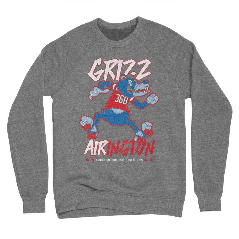 Skater Series: Grizz AIRington Women's Sponge Fleece Sweatshirt by Chicago Bruise Brothers Roller Derby