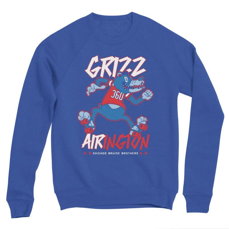 Skater Series: Grizz AIRington Men's Sweatshirt by Chicago Bruise Brothers Roller Derby