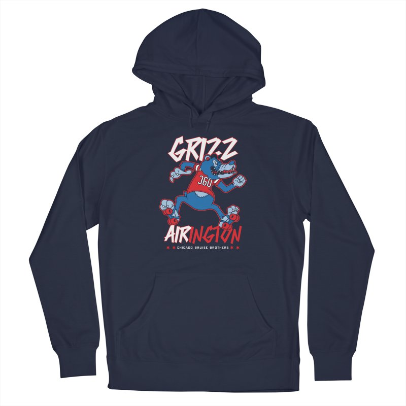 Skater Series: Grizz AIRington Men's Pullover Hoody by Chicago Bruise Brothers Roller Derby