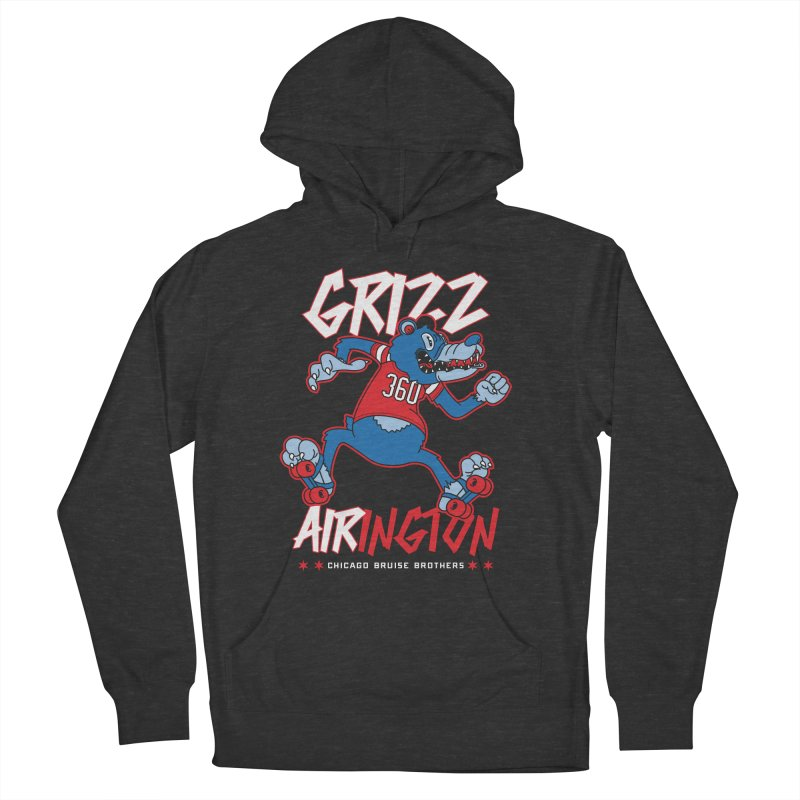 Skater Series: Grizz AIRington Women's French Terry Pullover Hoody by Chicago Bruise Brothers Roller Derby