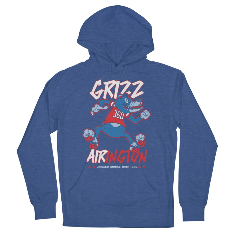 Skater Series: Grizz AIRington Men's French Terry Pullover Hoody by Chicago Bruise Brothers Roller Derby