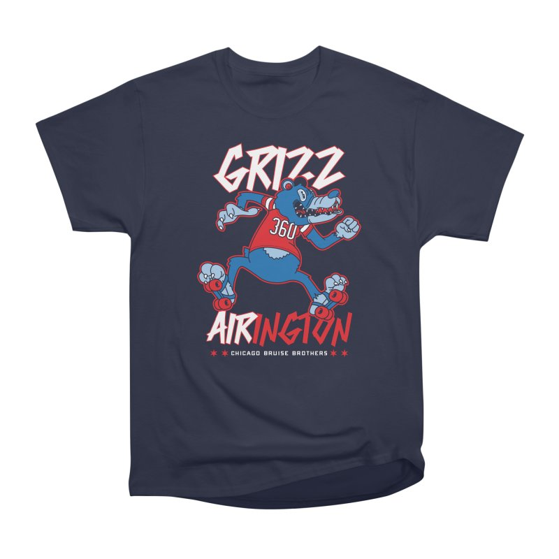 Skater Series: Grizz AIRington Men's Heavyweight T-Shirt by Chicago Bruise Brothers Roller Derby