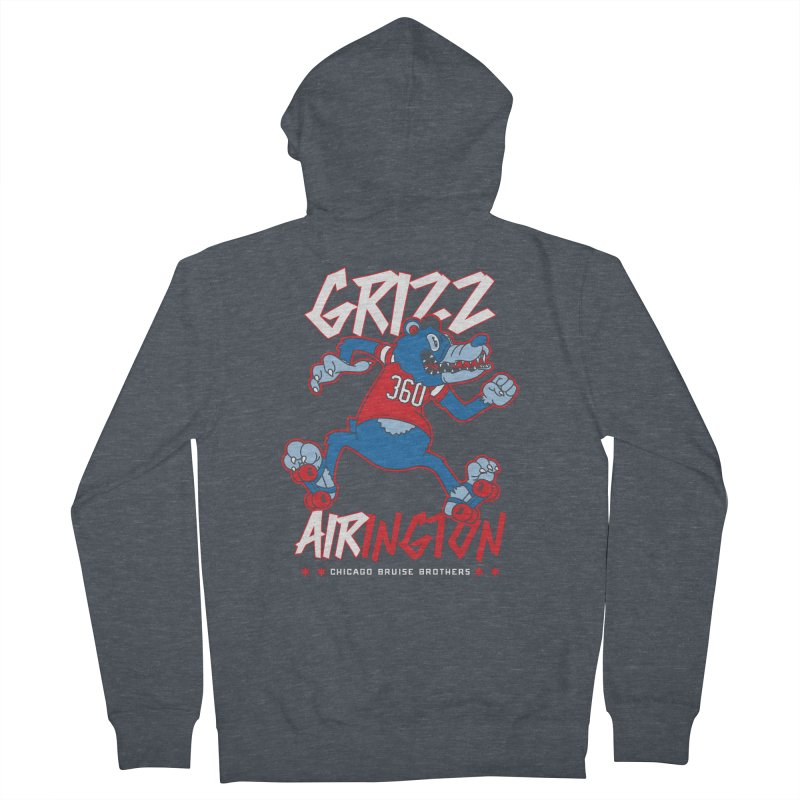 Skater Series: Grizz AIRington Women's French Terry Zip-Up Hoody by Chicago Bruise Brothers Roller Derby
