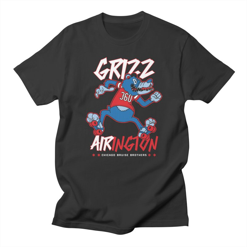 Skater Series: Grizz AIRington Men's Regular T-Shirt by Chicago Bruise Brothers Roller Derby