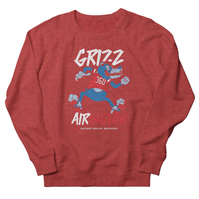 Skater Series: Grizz AIRington Men's French Terry Sweatshirt by Chicago Bruise Brothers Roller Derby
