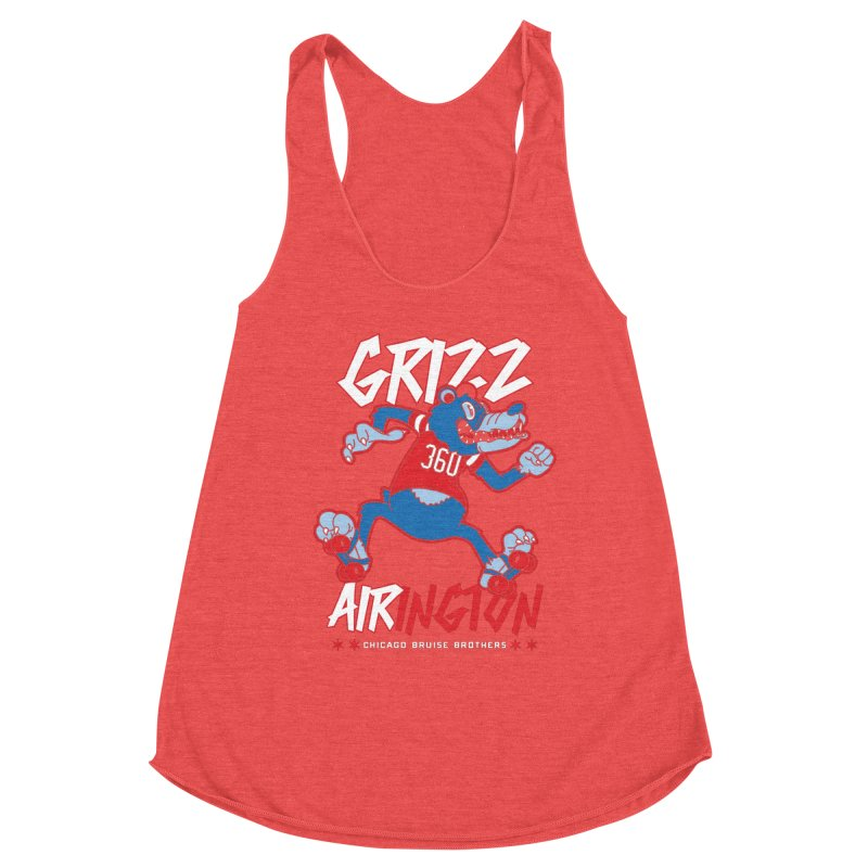Skater Series: Grizz AIRington Women's Tank by Chicago Bruise Brothers Roller Derby